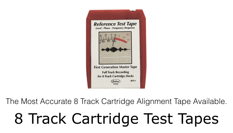 The Most Accurate 8 Track Cartridge Alignment Tape Available.